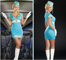 Lady's A-style Stewardess Uniform Halloween Costumes Party Cosplay Fancy Dress