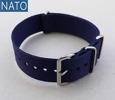 BRACELET MONTRE NATO 20mm (bleu navy) dive mechanical chronograph sport watch
