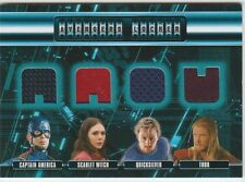 Marvel Avengers Age of Ultron Locker Quad Costume Relic Card AL4CWPT Free Ship