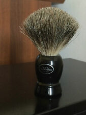THE ART OF SHAVING PURE BADGER PENNELLO BARBA PURO TASSO MANICO NERO BLACK NOBOX