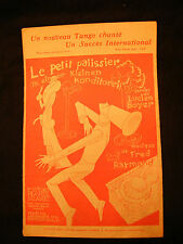 Partition Le petit patissier Lucien boyer Fred Raymond Music Sheet