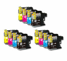 12 PK Printer Ink Set + Chip for Brother LC201 MFC-J460DW MFC-J480DW MFC-J485DW