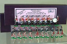 SCOTTISH TOY SOLDIER COMPANY ROYAL SCOTS MARCHING PIPE & DRUM BAND c 1900 my