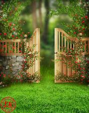 Green Grass Spring Cancello Baby Sfondo Fondale Vinile Foto PRO 5x7ft 150x220cm