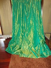 CUSTOM CALICO IRIDESCENT PARAKEET GREEN SHIMMER PAIR THERMAL LINED PANELS 50X88