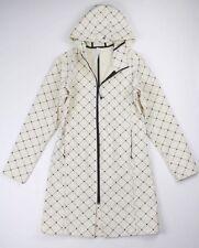 Lululemon Printed Cream Parka Hooded Raincoat Jacket Sz 6
