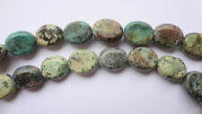 6mm Heart Shaped Natural Green Turquoise Gemstone Beads - Half Strand