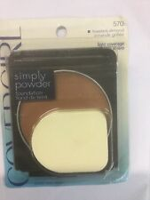 CoverGirl Simply Powder Foundation #570 TOASTED ALMOND ORIGINAL FORMULA NEW.