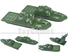 2 pcs Military Boat Speedboat Motorboat 14cm Toy Soldier Army Men Accessories