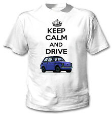 POLISH MALUCH BLUE INSPIRED KEEP CALM AND DRIVE - WHITE COTTON TSHIRT