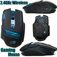 2.4 ghz Wireless Optical 8d 2400dpi actme V5 6 Botones Inalámbrico Gaming Mouse Mice