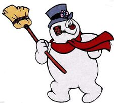 """4"""" FROSTY THE SNOWMAN CHRISTMAS  HOLIDAY  CHARACTER FABRIC APPLIQUE IRON ON"""