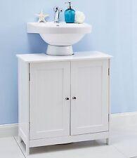 WHITE UNDER SINK BATHROOM CABINET UNDERSINK STORAGE CABINET BATHROOM FURNITURE
