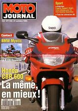 MOTO JOURNAL 1154 BMW R100 R 100 Mystic HONDA CBR 600 F YAMAHA 125 AT1 94 Slight