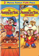 An American Tail 1 & 2 One & Two: 2 Movie Pack (DVD, 2014, 2-Disc Set) NEW