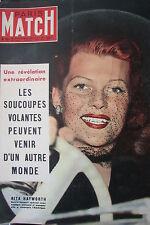 PARIS MATCH N° 0161 RITA HAYWORTH SOUCOUPE VOLANTE OVNI PLANEUR ATGER 1952