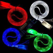 Visible LED Light Micro USB Charger Data Sync Cable for Samsung Galaxy S5 Note 3