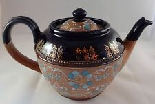 Doulton Lambeth Slaters Floral Tea Pot Stoneware Art Nouveau