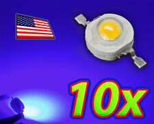 [10x] 1W Bright Blue High Power LED Lamp Beads 40-50Lm 1 Watt