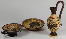3 Pieces of Greek Reproduction Classical 450 BC Corinthian Pottery