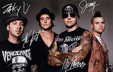 AVENGED SEVENFOLD ENTIRE GROUP AUTOGRAPH SIGNED PP PHOTO POSTER