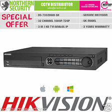 3-in-1 32CH HIKVISION DVR ANALOG IP HDTVI AUDIO ALARM 1080P DS-7332HGHI-SH TURBO