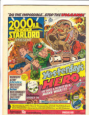 """2000 A.D. & Star Lord  No.88    : 1978 :     : """"Yesterday's Hero"""" :"""