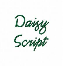 Daisy Script Font Embroidery 600 Designs on multi-formatted CD in 8 sizes