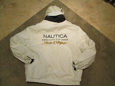 VINTAGE Nautica Stars & Stripes Reversible Hooded Sailing Jacket Adult Large 90s