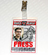 Spiderman Peter Parker ID Badge Press Photographer Cosplay Costume Christmas