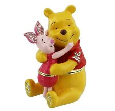 Disney Winnie The Pooh & Piglet Small Trinket Box with Blue Gift Box - DI118