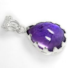 5.98 Grams 925 Sterling Silver Hand Made Fine Amethyst Pendant Jewelry svp0699 $
