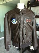 Cooper/Sadd. A-2 Brown Flight US Air Force Bomber Leather Goatskin Jacket 46L XL
