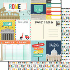 SC - Rome Journal Scrapbooking Paper - 1 sheet - 37704 Double Sided Italy