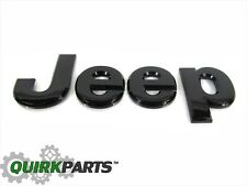 13-16 Jeep Grand Cherokee GLOSS BLACK JEEP HOOD EMBLEM NAMEPLATE OEM NEW MOPAR