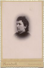 LADY WITH CHOKER NECKLACE BY RANDALL, GERMANTOWN, OHIO, CABINET CARD
