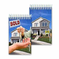 "Spiral Notebook Real Estate House Sale Flip Lenticular 2x4"" 144 Page #NBM-971#"