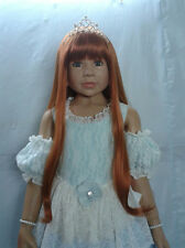 "Cinderella Wig St Bl By Masterpiece Dolls(WIG ONLY-DOLL NOT INCLUDED) 20"" Head"