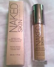 URBAN DECAY NAKED SKIN WEIGHTLESS ULTRA DEFINITION LIQUID MAKEUP # 12.0 NIB!