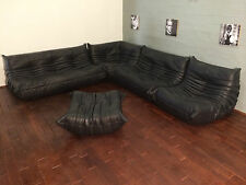 Ligne Roset TOGO Set-1x3,1x2,1 Seat, corner, pouffe, real black aniline leather!