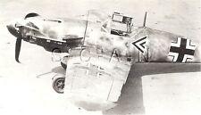 WWII RCAF Large RP- Airplane- Luftwaffe- Crashed Messerschmitt ME 109 Fighter