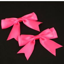 """5x 95mm approx Large Double Bows Satin Ribbon Bows With Tails  4"""" wide Beautiful"""