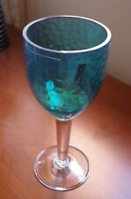 NEW Bobby Flay Acrylic Wine Glass turquoise blue - set of 2