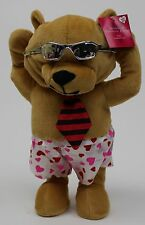 "Valentine's Animated Brown Bear Ears Moves Hip ""Live While We're Young"" NWT"