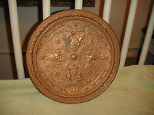 Antique Bronze Plate Of Angels & Cherubs-Raised Demons-Victorian Bronze-ODD