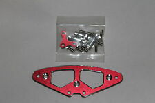 DYNAMITE ASSOCIATED NITRO NTC3 RED ALLOY UPPER BUMPER MOUNT WITH POSTS & SCREWS