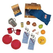 """NEW! Our Generation Picnic Playset Dishes Fake Food 18"""" My Life American Doll"""