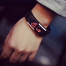 Hot  Waterproof Silicone Wristband Smart Sport Red LED Digital Bracelet Watches