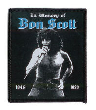 BON SCOTT Sew-on Patch IN MEMORY ♫ Rare Tribute ♫ black border edition ♫ ACDC