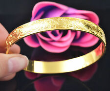 Women Lady Girl 14k Gold Filled Bracelet Bangle Wedding Bridal Wristband Gift